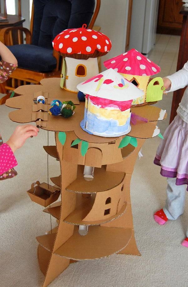 Best ideas about Cardboard Craft Ideas For Adults . Save or Pin 70 Cool Homemade Cardboard Craft Ideas Now.