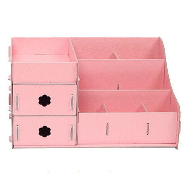 Best ideas about Cardboard Organizer DIY . Save or Pin Pink DIY Cardboard Storage Box Desk Decor Makeup Cosmetic Now.