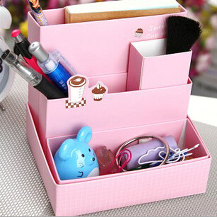 Best ideas about Cardboard Organizer DIY . Save or Pin DIY Foldable Paper Cardboard Storage Box Makeup Cosmetic Now.