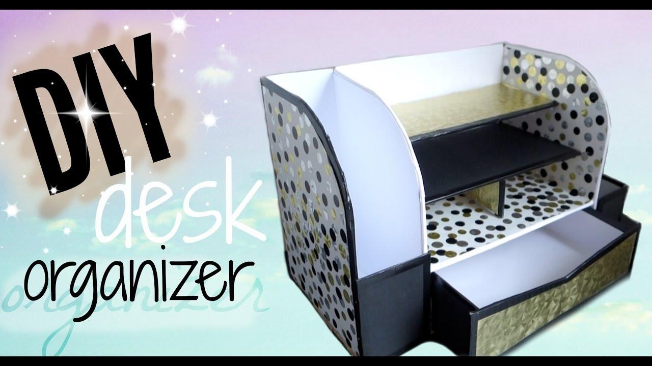Best ideas about Cardboard Organizer DIY . Save or Pin DIY CARDBOARD DESK ORGANIZER AFFORDABLE Now.