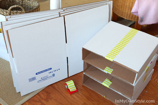 Best ideas about Cardboard Organizer DIY . Save or Pin DIY Scrapbook Paper Organizer Now.