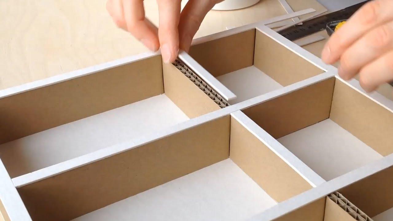 Best ideas about Cardboard Organizer DIY . Save or Pin DIY How to make a cardboard drawer organizer HD Now.