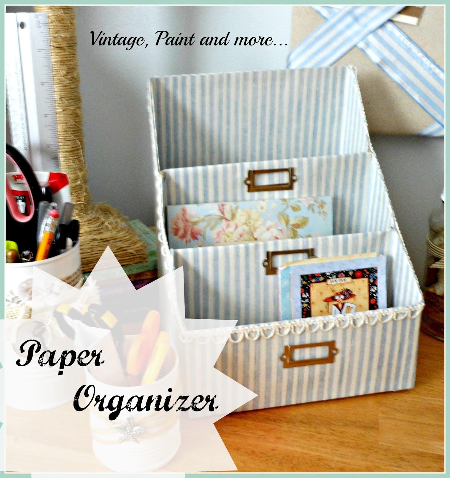 Best ideas about Cardboard Organizer DIY . Save or Pin DIY Paper Organizer Now.
