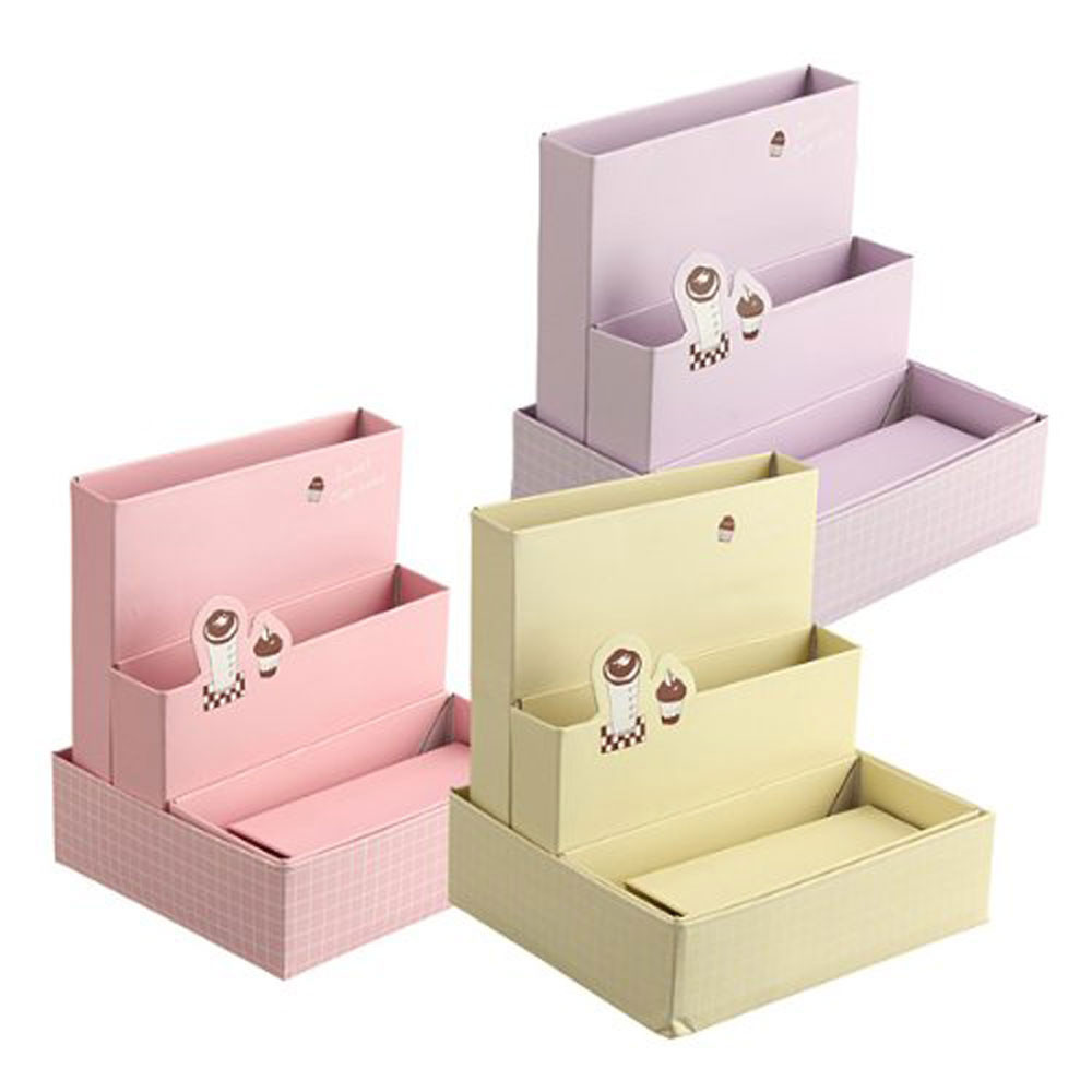 Best ideas about Cardboard Organizer DIY . Save or Pin Paper Board Storage Box Desk Decor Stationery Makeup Now.