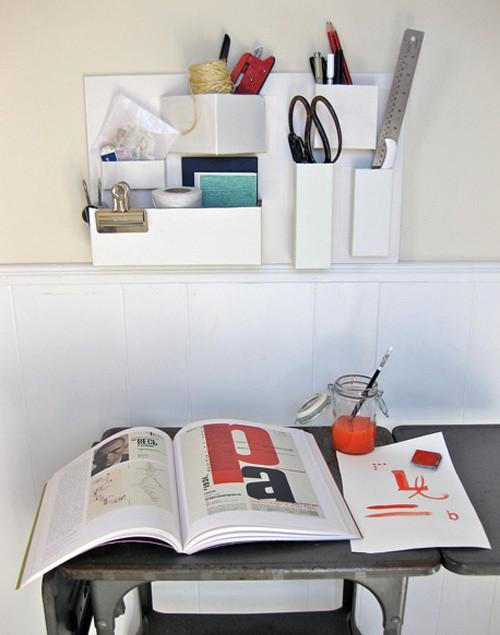 Best ideas about Cardboard Organizer DIY . Save or Pin diy project recycled cardboard organizer – Design Sponge Now.
