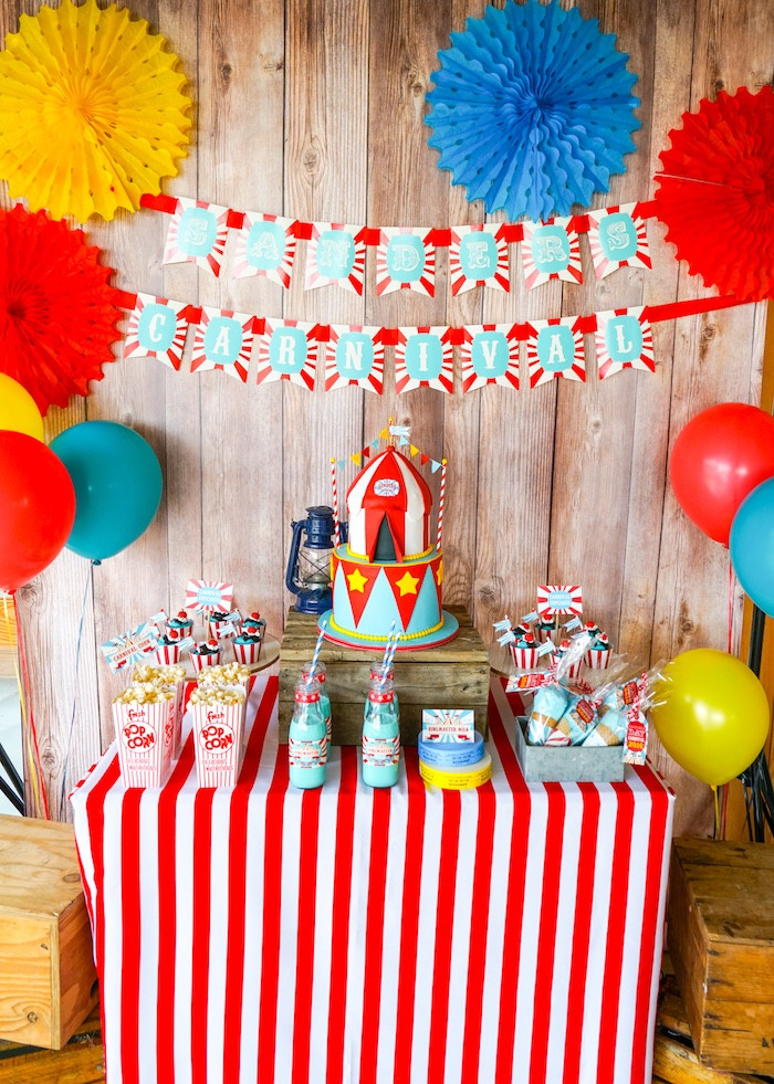 Best ideas about Carnival Birthday Party Ideas . Save or Pin Kara s Party Ideas Backyard Carnival Party Now.