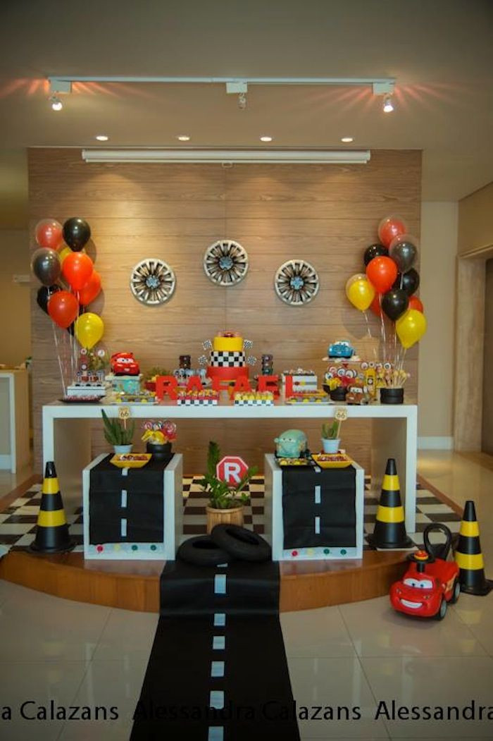Best ideas about Cars Birthday Decorations . Save or Pin Cars Theme Birthday Party Décor Ideas Now.