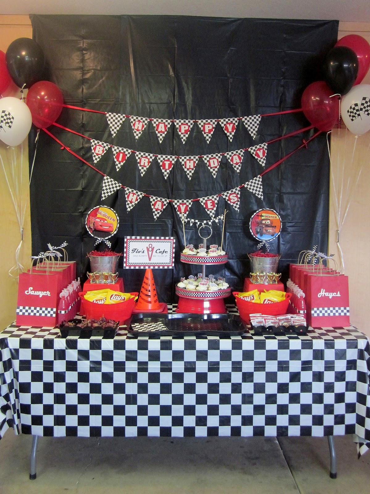 Best ideas about Cars Birthday Decorations . Save or Pin Adorable Antics April 2012 Now.