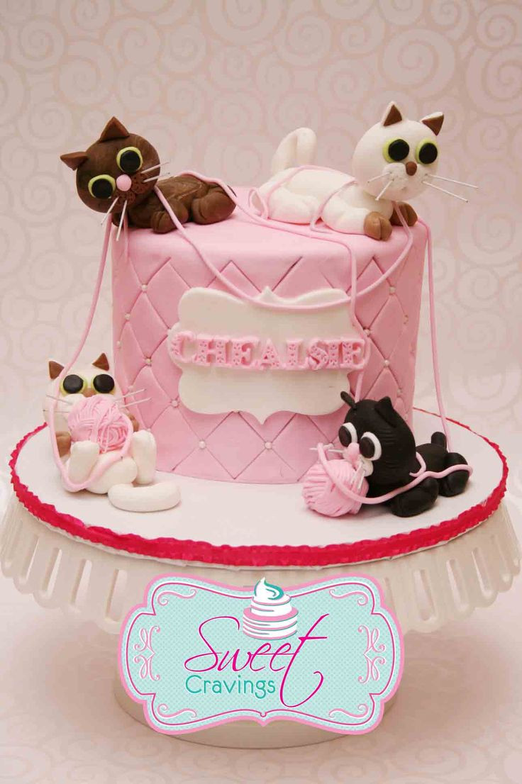 Best ideas about Cat Birthday Cake . Save or Pin Best 25 Fondant cat ideas on Pinterest Now.