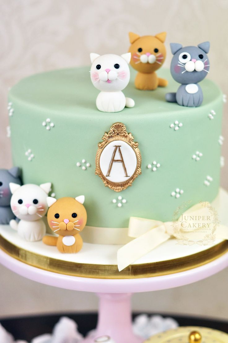 Best ideas about Cat Birthday Cake . Save or Pin Best 25 Cat cakes ideas on Pinterest Now.