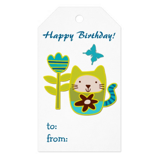 Best ideas about Cat Birthday Gifts . Save or Pin Cute Kitty Cat Birthday Gift Tags Now.