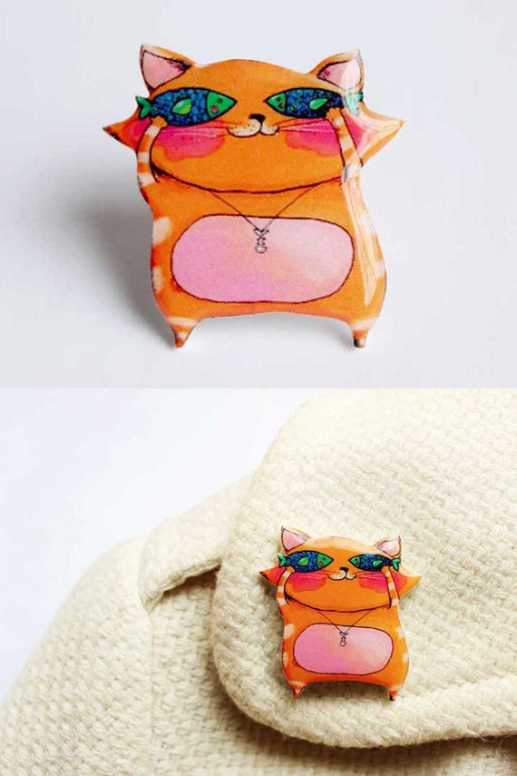 Best ideas about Cat Birthday Gifts . Save or Pin Cute Cat Brooch Birthday Gift for kids Christmas Gifts for her Now.
