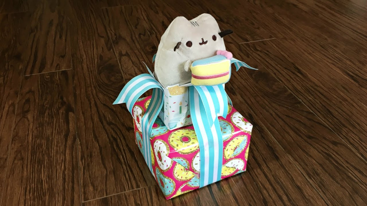 Best ideas about Cat Birthday Gifts . Save or Pin Pusheen The Cat Birthday Gift Wrapping Idea Gift Now.