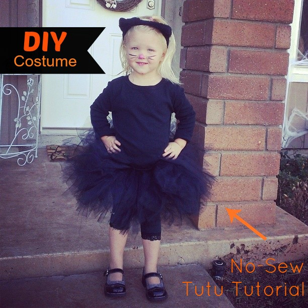 Best ideas about Cat DIY Costume . Save or Pin DIY Cat Costume with Tutu Tutorial Now.