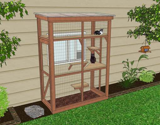 Best ideas about Cat Enclosure DIY . Save or Pin DIY Catio Plan The HAVEN™ Catio Plans with 3x6 and 4x8 Now.