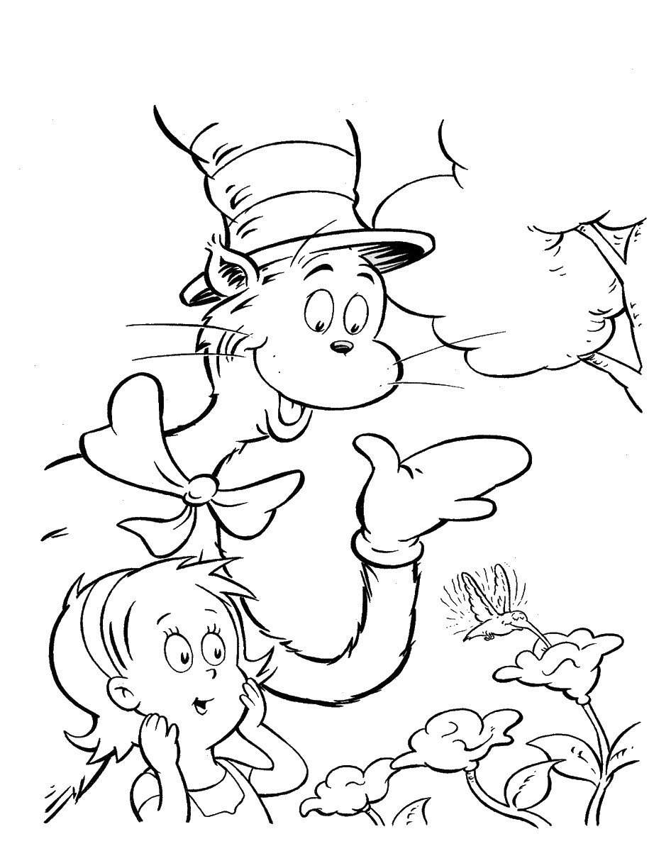 Best ideas about Cat In The Hat Printable Coloring Pages . Save or Pin Cat In The Hat To Print Coloring Home Now.