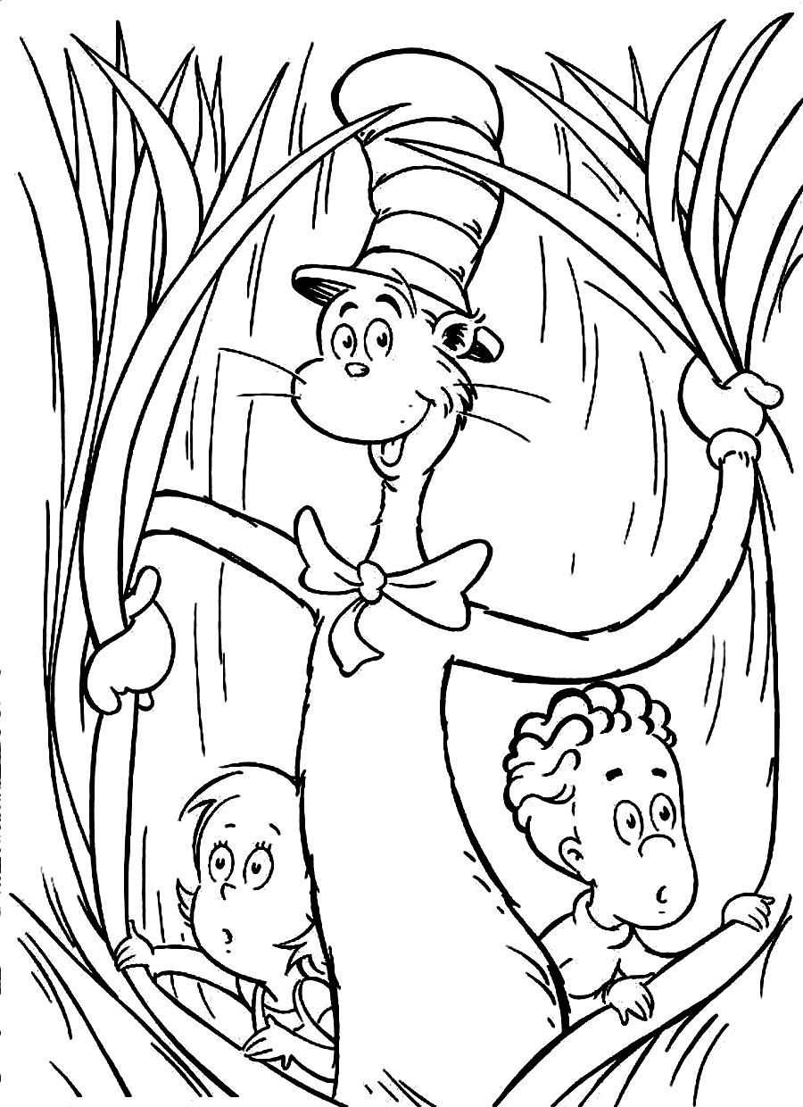 Best ideas about Cat In The Hat Printable Coloring Pages . Save or Pin Free Printable Cat in the Hat Coloring Pages For Kids Now.