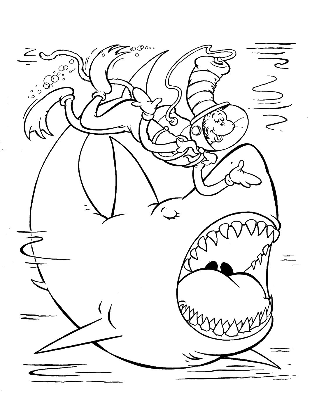 Best ideas about Cat In The Hat Printable Coloring Pages . Save or Pin Cat in the Hat Coloring Pages Now.