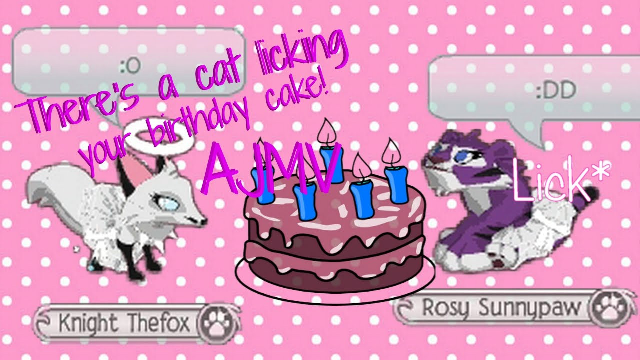Best ideas about Cat Licking Your Birthday Cake . Save or Pin Animal jam There s a cat licking your birthday cake Now.