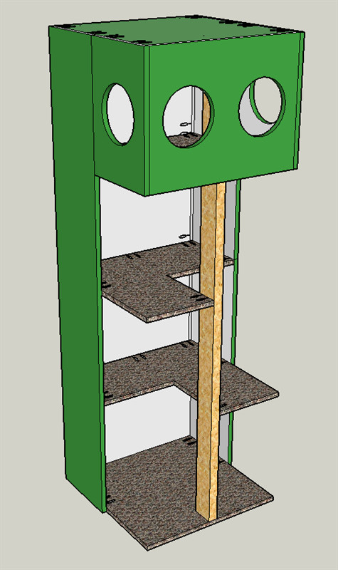 Best ideas about Cat Tree Plans DIY . Save or Pin Cat Tree House buildsomething Now.