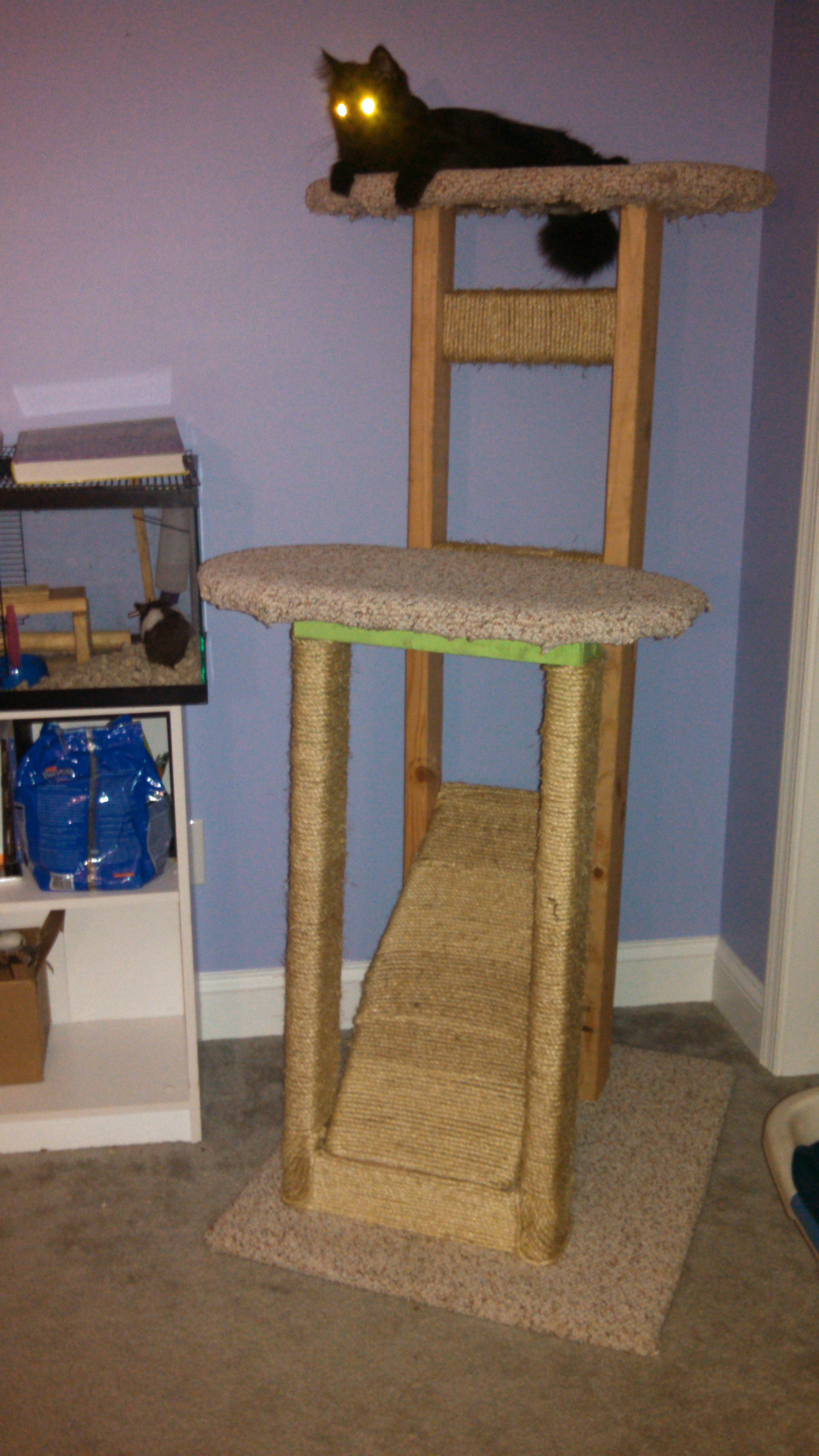 "Best ideas about Cat Tree Plans DIY . Save or Pin homemade ""cat tree"" Now."