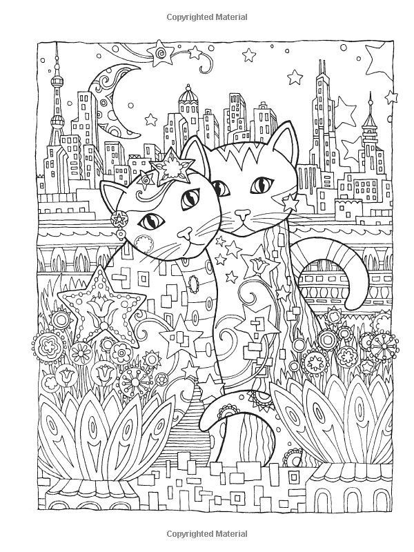 Best ideas about Cats Adult Coloring Books . Save or Pin Creative Cats Coloring Book by Marjorie Sarnat Dover Now.