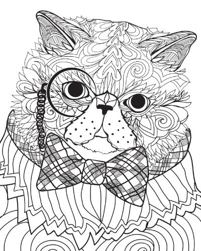 Best ideas about Cats Adult Coloring Books . Save or Pin Adult Coloring Pages Now.