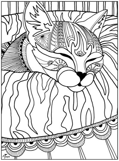 Best ideas about Cats Adult Coloring Books . Save or Pin Best Coloring Books for Cat Lovers Cleverpedia Now.