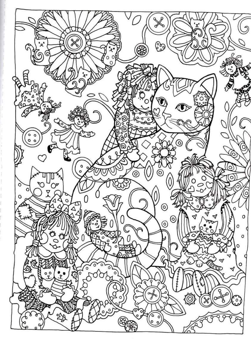 Best ideas about Cats Adult Coloring Books . Save or Pin Creative Haven Creative Cats Dover Publications Coloring Now.