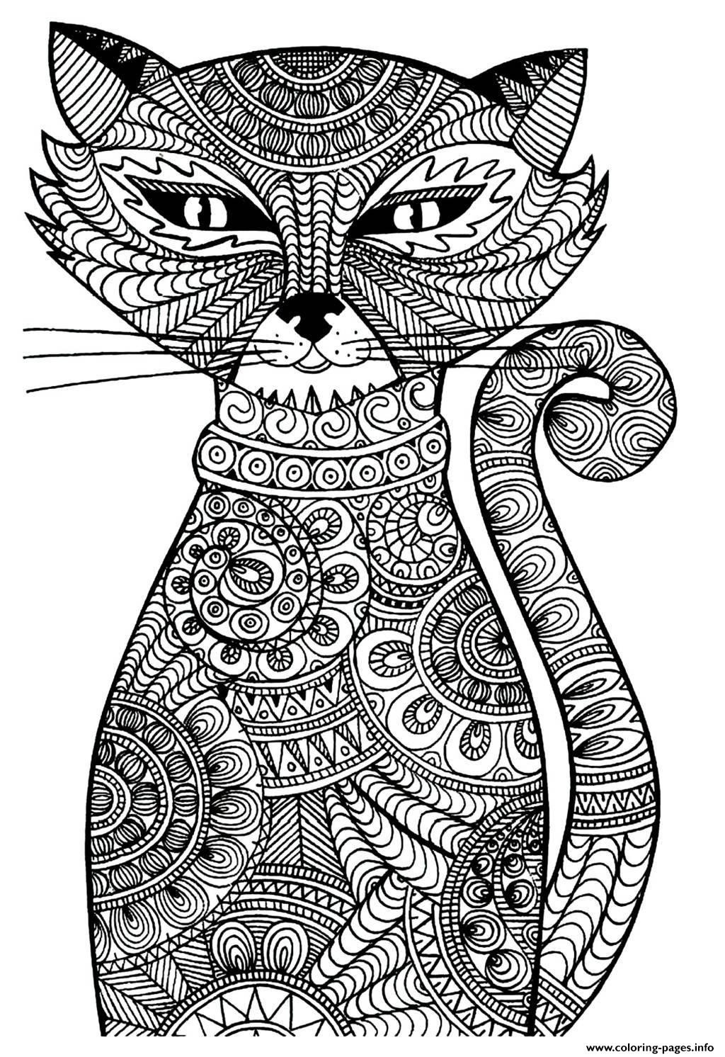 Best ideas about Cats Adult Coloring Books . Save or Pin adult cat Coloring pages Printable Now.