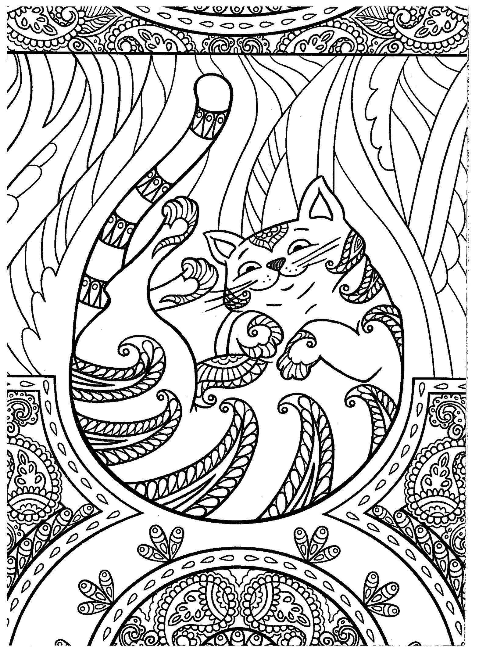 Best ideas about Cats Adult Coloring Books . Save or Pin Cat coloring page Kids coloring pages books Now.