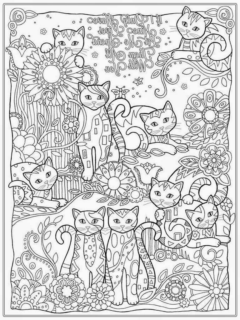 Best ideas about Cats Adult Coloring Books . Save or Pin Cat Coloring Pages For Adult Now.