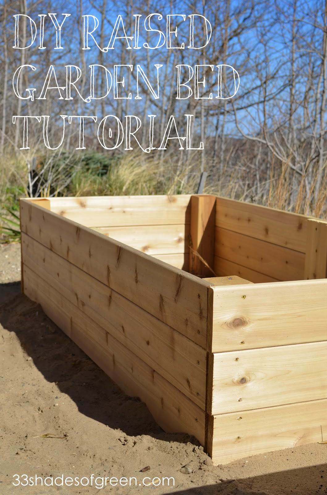 Best ideas about Cedar Raised Garden Beds DIY . Save or Pin 33 Shades of Green Easy DIY Raised Garden Bed Tutorial Now.