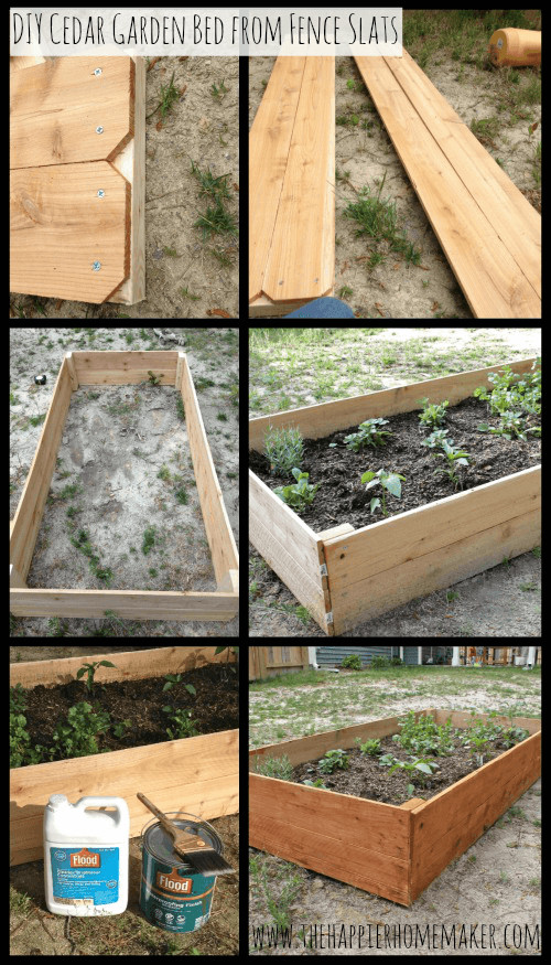 Best ideas about Cedar Raised Garden Beds DIY . Save or Pin DIY Cedar Raised Garden Bed The Happier Homemaker Now.