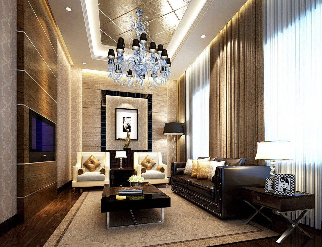 Best ideas about Ceiling Lights For Living Room . Save or Pin 77 really cool living room lighting tips tricks ideas Now.
