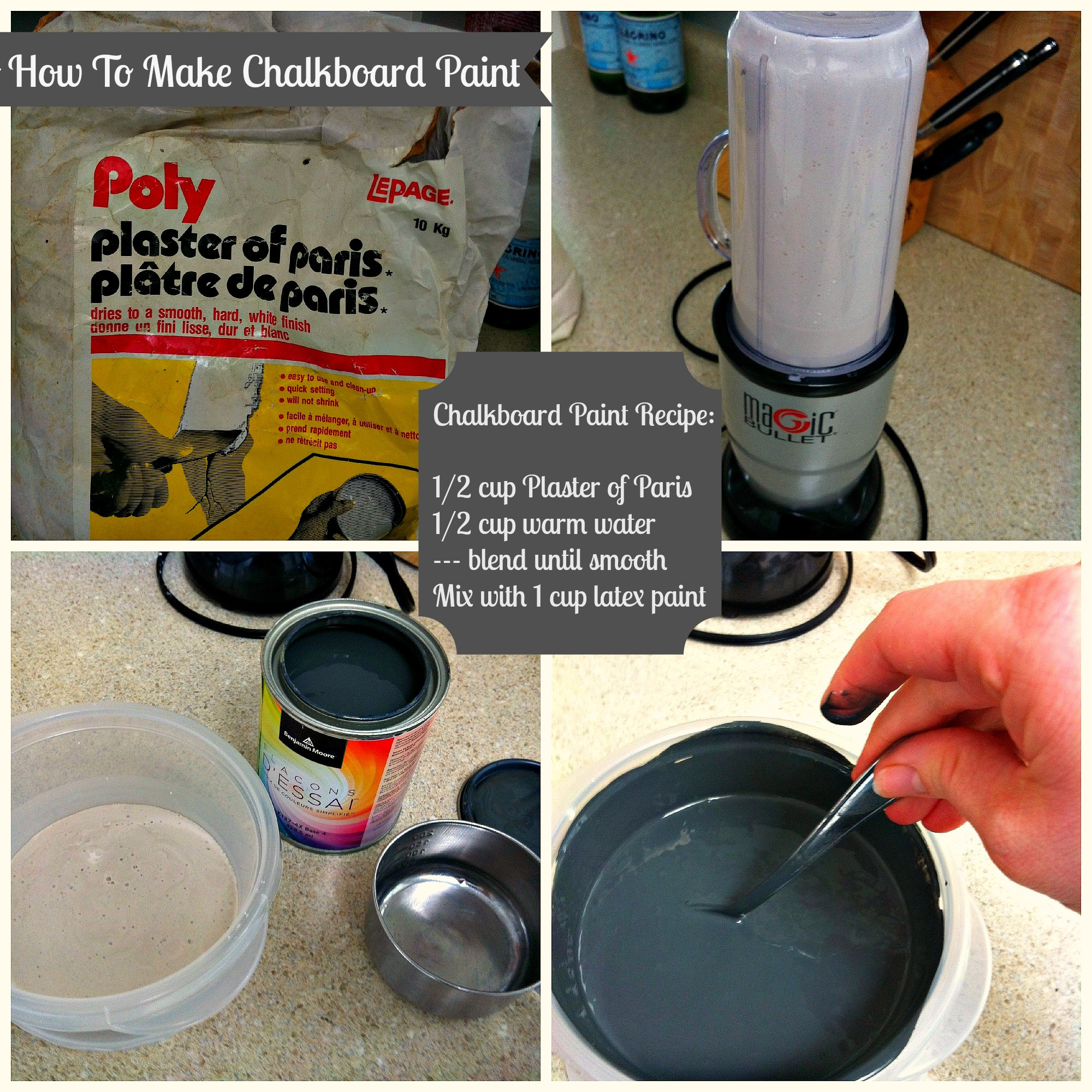 Best ideas about Chalk Paint DIY . Save or Pin DIY Chalkboard Paint Epic Failure Turned Sweet Success Now.