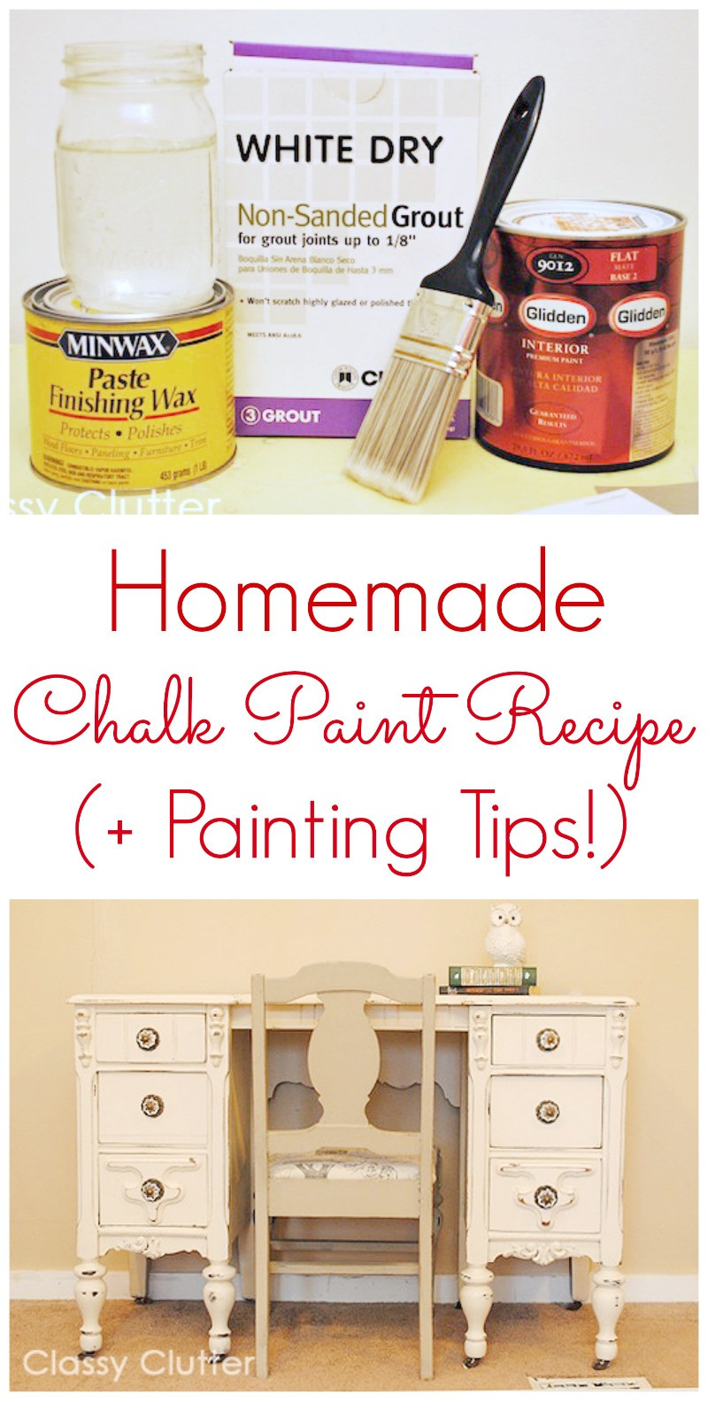 Best ideas about Chalk Paint DIY . Save or Pin The BEST Painting Tips and Tricks Classy Clutter Now.