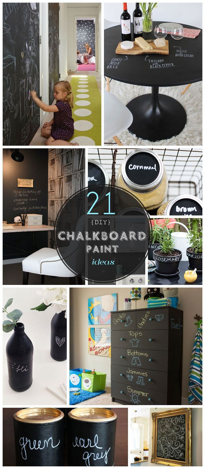 Best ideas about Chalk Paint DIY . Save or Pin Pic for 21 DIY Chalkboard Paint Ideas Now.
