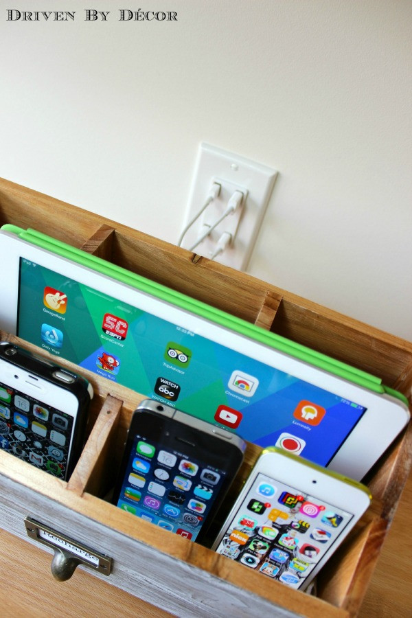 Best ideas about Charging Station DIY . Save or Pin DIY Family Charging Station Now.