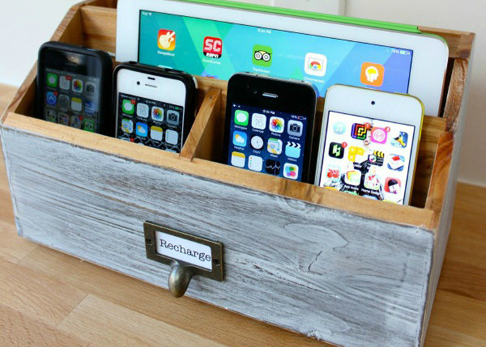 Best ideas about Charging Station DIY . Save or Pin Make your own DIY charging station Now.