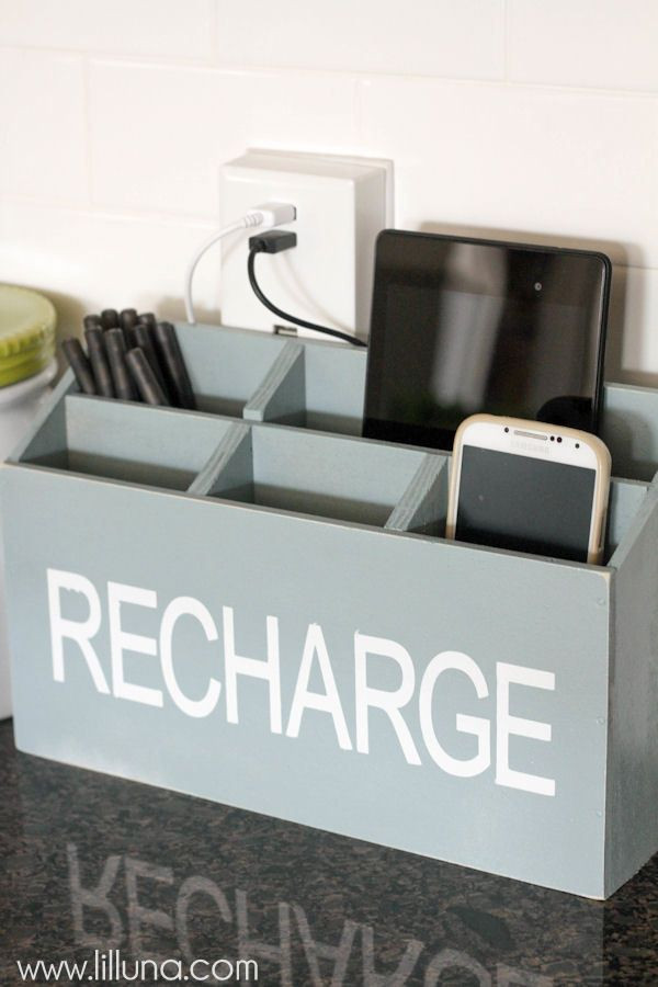 Best ideas about Charging Station DIY . Save or Pin Remodelaholic Now.