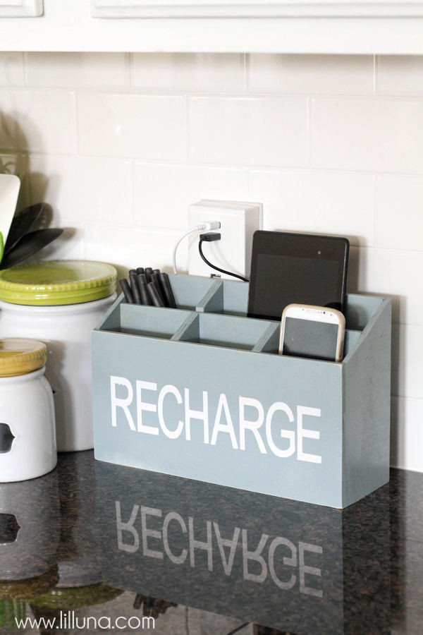 Best ideas about Charging Station DIY . Save or Pin DIY Charging Station Now.