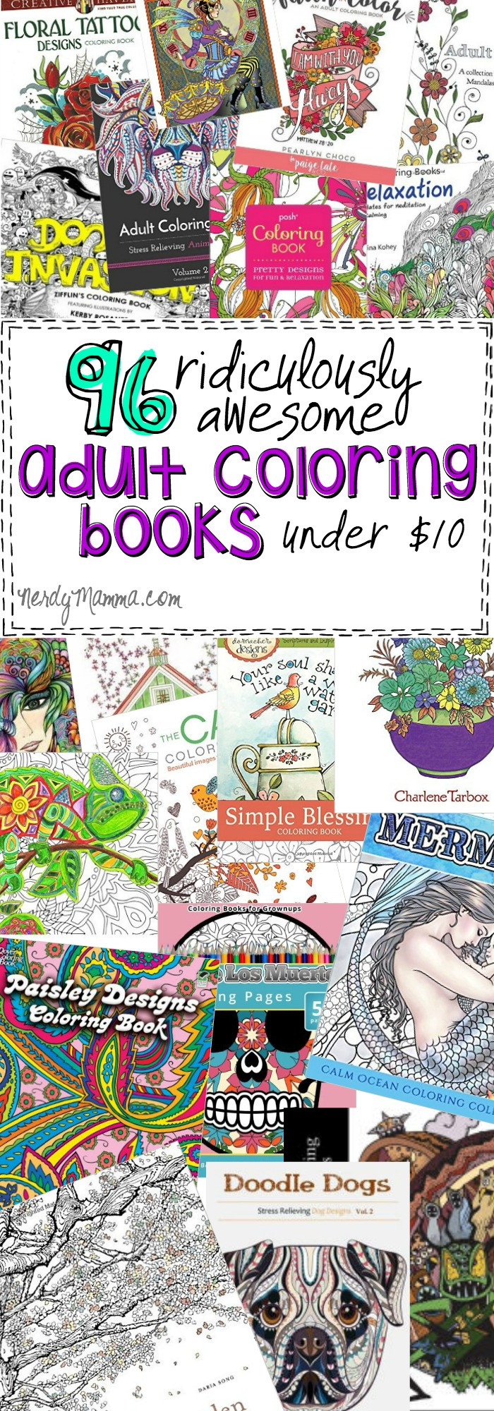 Best ideas about Cheap Adult Coloring Books . Save or Pin 96 Ridiculously Awesome Adult Coloring Books Under $10 Now.