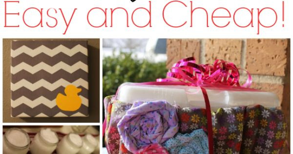 Best ideas about Cheap Baby Gift Ideas . Save or Pin Easy and Cheap Baby Shower DIY Gift Ideas Now.