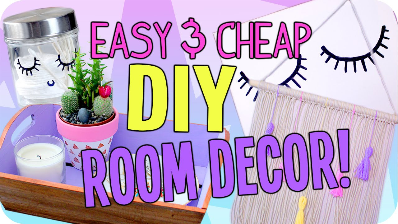 Best ideas about Cheap DIY Room Decor . Save or Pin Easy DIY Room Decor Now.