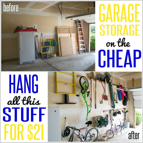 Best ideas about Cheap Garage Storage Ideas . Save or Pin How to Hang Stuff in your Garage ON THE CHEAP Now.