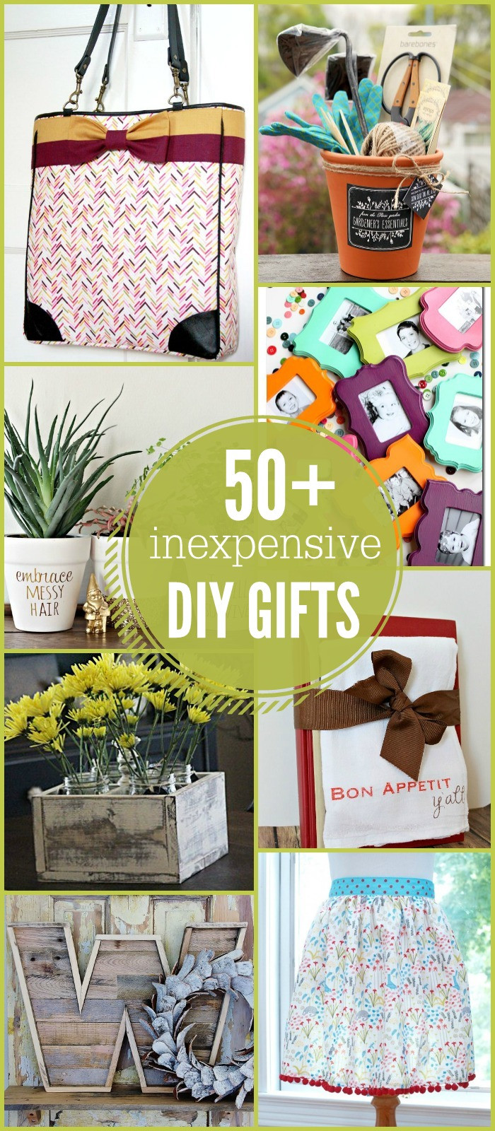 Best ideas about Cheap Gift Ideas . Save or Pin 50 Inexpensive DIY Gift Ideas Now.