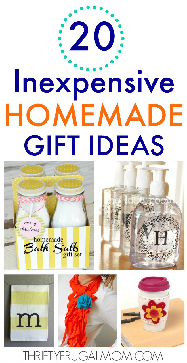 Best ideas about Cheap Gift Ideas . Save or Pin 20 Inexpensive Homemade Gift Ideas Now.
