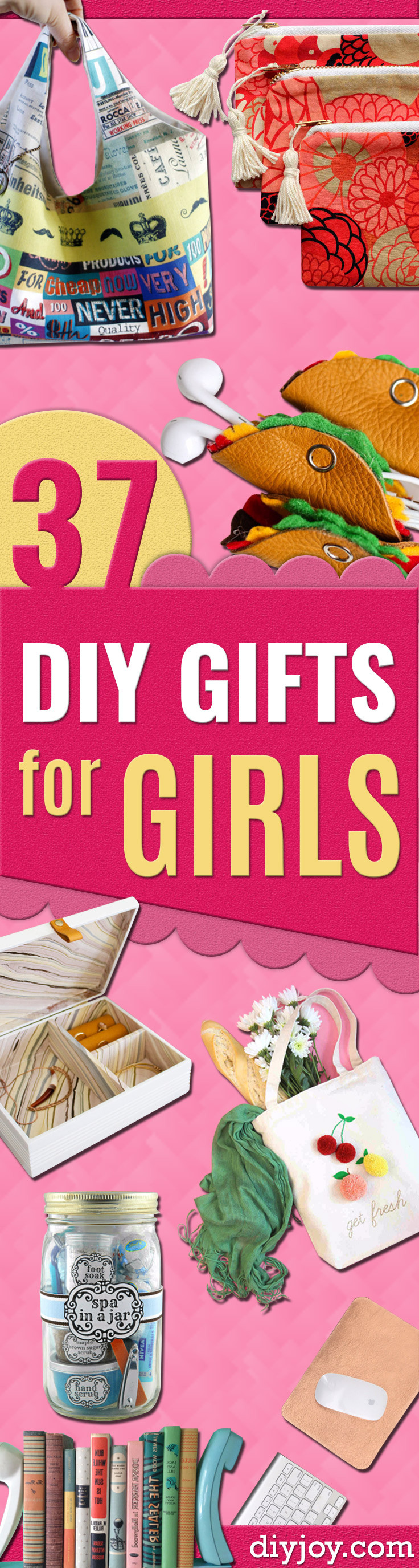 Best ideas about Cheap Gift Ideas For Girls . Save or Pin 37 Best DIY Gifts for Girls Now.