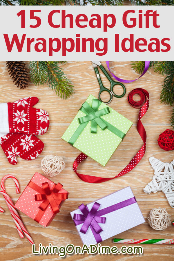 Best ideas about Cheap Holiday Gift Ideas . Save or Pin 15 Cheap Gift Wrapping Ideas Living on a Dime Now.